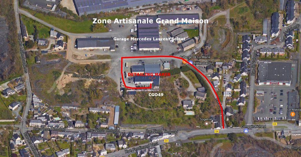 Carte localisation Detailing Maker