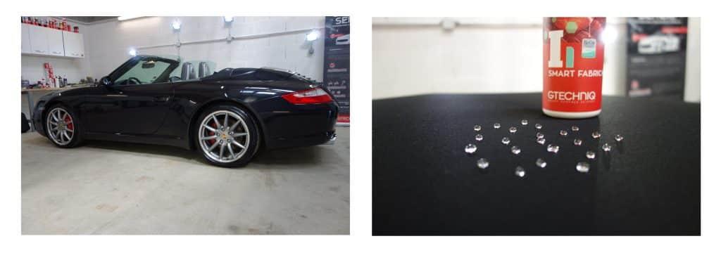 Nettoyage / Teinte / Protection hydrophobe cabriolet