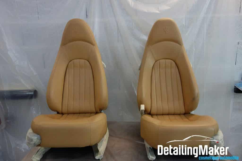 Rénovation cuir Maserati