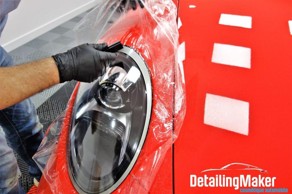 Film de protection carrosserie sur Porsche