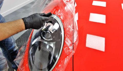 Film de protection sur optique de Porsche GT3