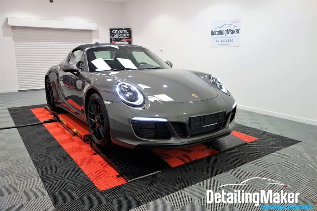 Porsche 911 Targa protégée par un film PPF et traitement céramique