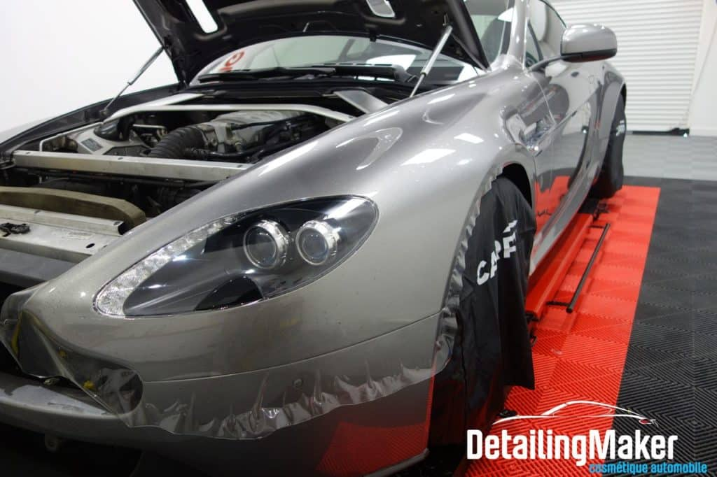 film protection carrosserie sur aston vantage